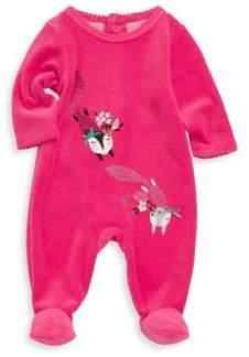Catimini Baby Girl's Cotton-Blend Velvet Pajamas