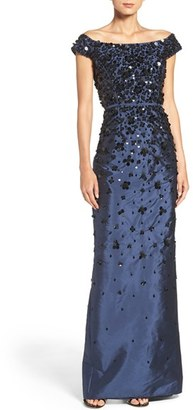 Women's Adrianna Papell Embellished Off The Shoulder Taffeta Gown $369 thestylecure.com