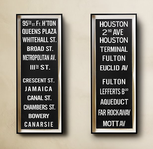 Subway Sign Art 95th