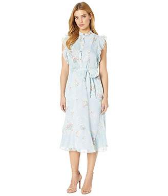 Lauren Ralph Lauren Floral Belted Georgette Dress