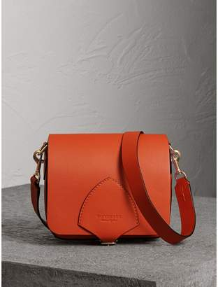 Burberry The Square Satchel in Leather, Orange
