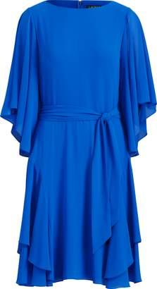 Ralph Lauren Ruffled Georgette Dress