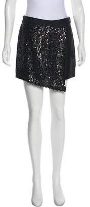 Tibi Silk Sequin Mini Shorts