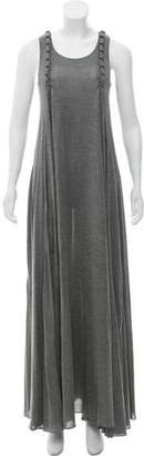 Saint Laurent Silk Sleeveless Maxi Dress