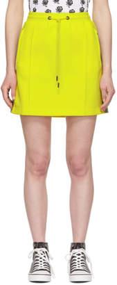Kenzo Yellow Logo Tape Jogging Miniskirt