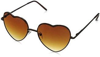 A.J. Morgan Women's Heart of Glass Round Sunglasses $24 thestylecure.com