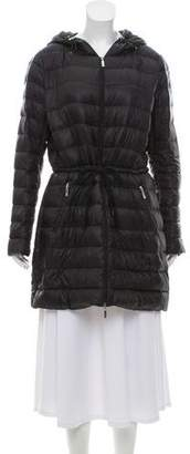 Moncler Laure Lightweight Hooded Down Coat