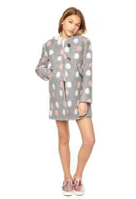 Milly Minis Pom Pom A-Line Coat