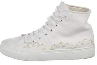 Simone Rocha Canvas Round-Toe Sneakers