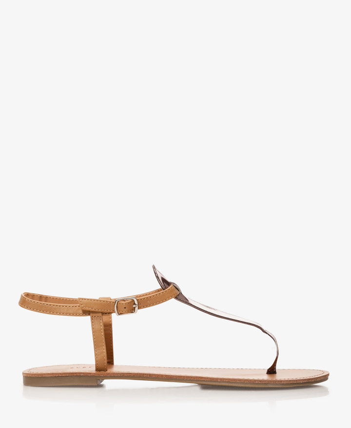 Forever 21 Metallic Thong Sandals