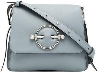 J.W.Anderson ice blue Disc leather cross-body bag