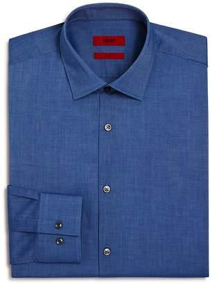 HUGO Solid Chambray Slim Fit Dress Shirt