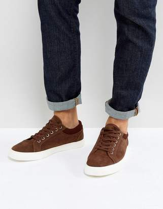 Asos Sneakers In Brown With Cuff