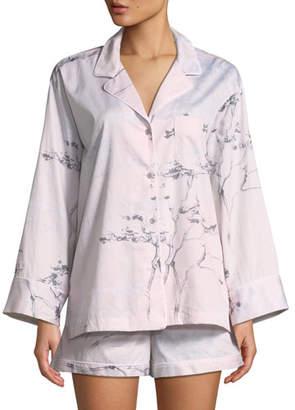 Natori Hakone Long-Sleeve Shorty Pajama Set