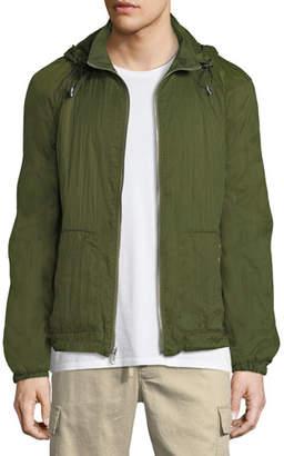 Vince Men's Hooded Zip-Front Wind-Resistant Jacket