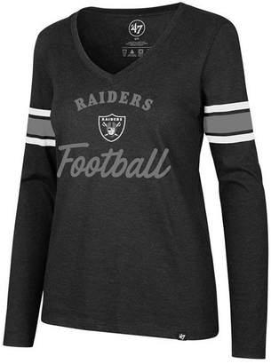 '47 Women's Oakland Raiders Spirit Script Long Sleeve T-Shirt