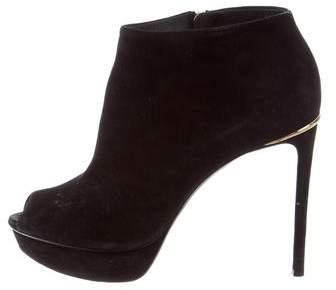 Louis Vuitton Peep-Toe Platform Booties