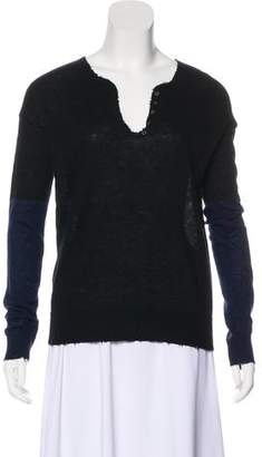 Zadig & Voltaire Cashmere Colorblock Sweater