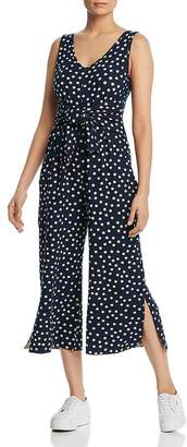 Three Dots Cropped Dot Print Jumpsuit - 100% Exclusive