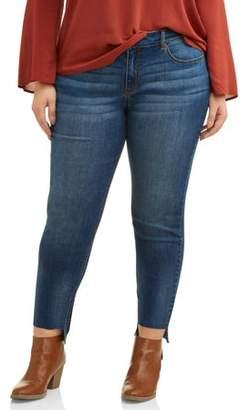 Cherokee Women's Plus Size Skinny Jean with Step Hem