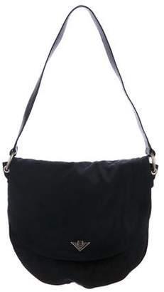 Bottega Veneta Vintage Nylon & Suede Shoulder Bag