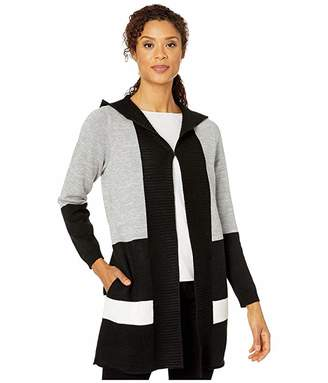 FDJ French Dressing Jeans Stripe Color Block Long Sleeve Hoodie