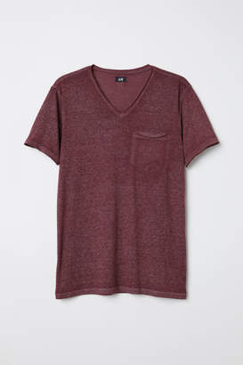 H&M T-shirt with Raw Edges - Pink