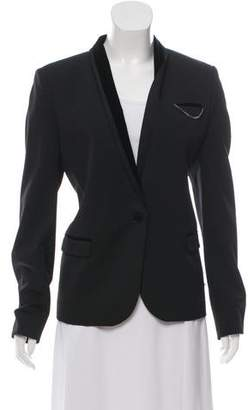 The Kooples Wool Velvet-Trimmed Blazer