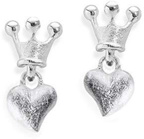 2055fac2b Heartbreaker crown of my heart LD LP 22 Sterling Silver 925 Stud Earrings
