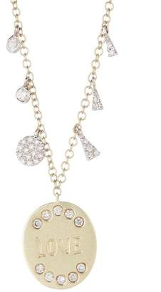 Meira T 14K Yellow Gold Diamond Charm Necklace - 0.19 ctw
