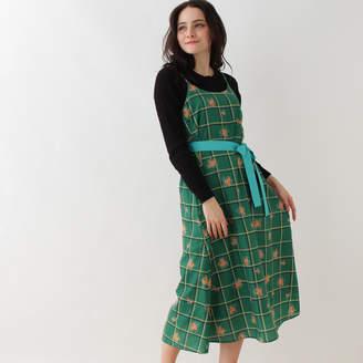 Couture Brooch (クチュール ブローチ) - クチュール ブローチ Couture brooch レトロフラワーキャミソールワンピース (グリーン)