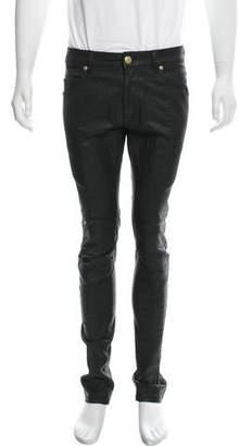 Pierre Balmain Coated Moto Jeans w/ Tags