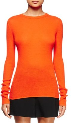 Proenza Schouler Long-Sleeve Open-Back Sweater, Electric Red $590 thestylecure.com
