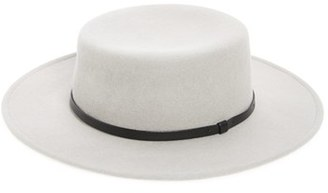 Women's Sole Society Wool Boater Hat - Grey $44.95 thestylecure.com