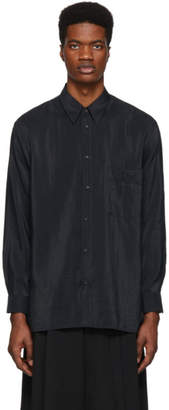 Lemaire Black Midnight Straight Collar Shirt