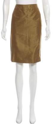 Ralph Rucci Iridescent Knee-Length Skirt