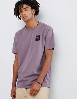 Wood Wood box logo t-shirt in purple