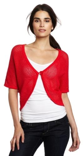 Chaus Women's Honeycomb One Button Shrug