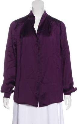 Bottega Veneta Silk Button-Up Blouse