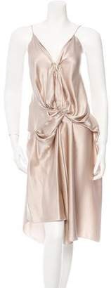 Lanvin Draped Silk Dress