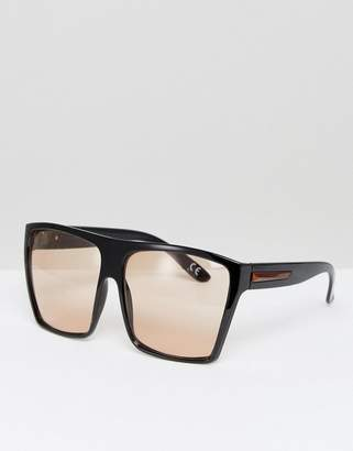 ASOS Oversized Square Sunglasses With Pale Brown Lens $19 thestylecure.com
