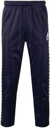 Kappa logo stripe track trousers