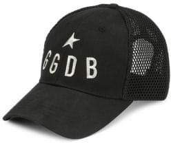 Golden Goose Men's GGDB Embroidered Logo Baseball Cap - Black Silver