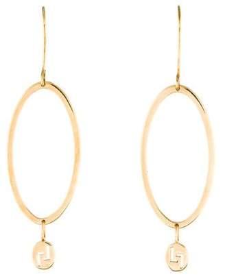 Lana 14K Oval Drop Earrings