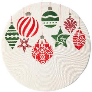 Deborah Rhodes Painted Ornaments Holiday Placemat