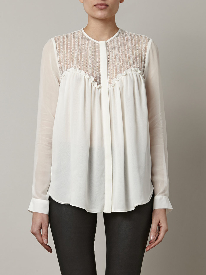 Lover Shadow lace blouse