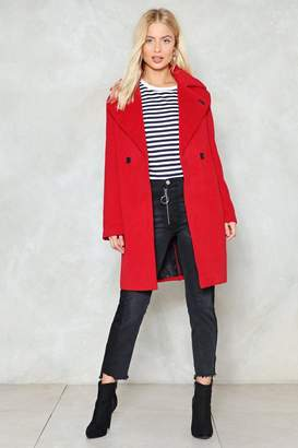 Nasty Gal Where There's a Wool Coat