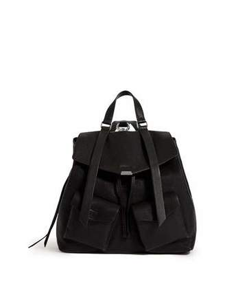 AllSaints Tower Washed Leather Backpack