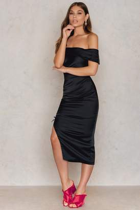 Lavish Alice Ruche Bandeau Midi Dress