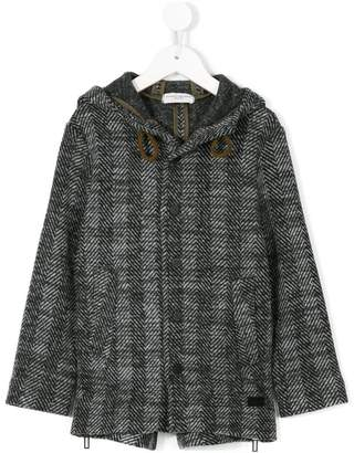 Paolo Pecora Kids hooded tweed coat